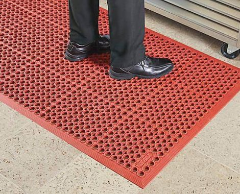 Red Rubber Mat